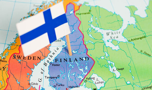 Finland on a map 740124